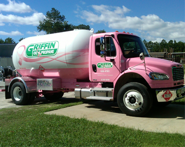 Cancer Awareness Pink Propane Truck